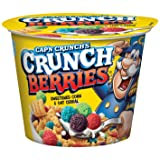 Cap'n Crunch Crunch Berries Breakfast Cereal, 1.3 oz, 12 Individual Cups (Tamaño: 1.3 Ounce (Pack of 12))