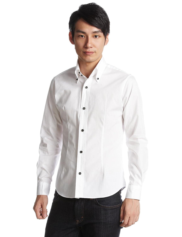 Amazon.co.jp: (ギャルソンウェーブ)garsonwave GWA8629日本製デュエボタンダウンシャツ: 服&ファッション小物通販