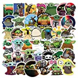 Baby Yoda Stickers (50 Pieces), Includes The Mandalorian Sticker with Yoda Baby, Lots of Choices for Hydro Flask Laptop Mug Water Bottles Phone,Waterproof Extra Durable 100% Vinyl