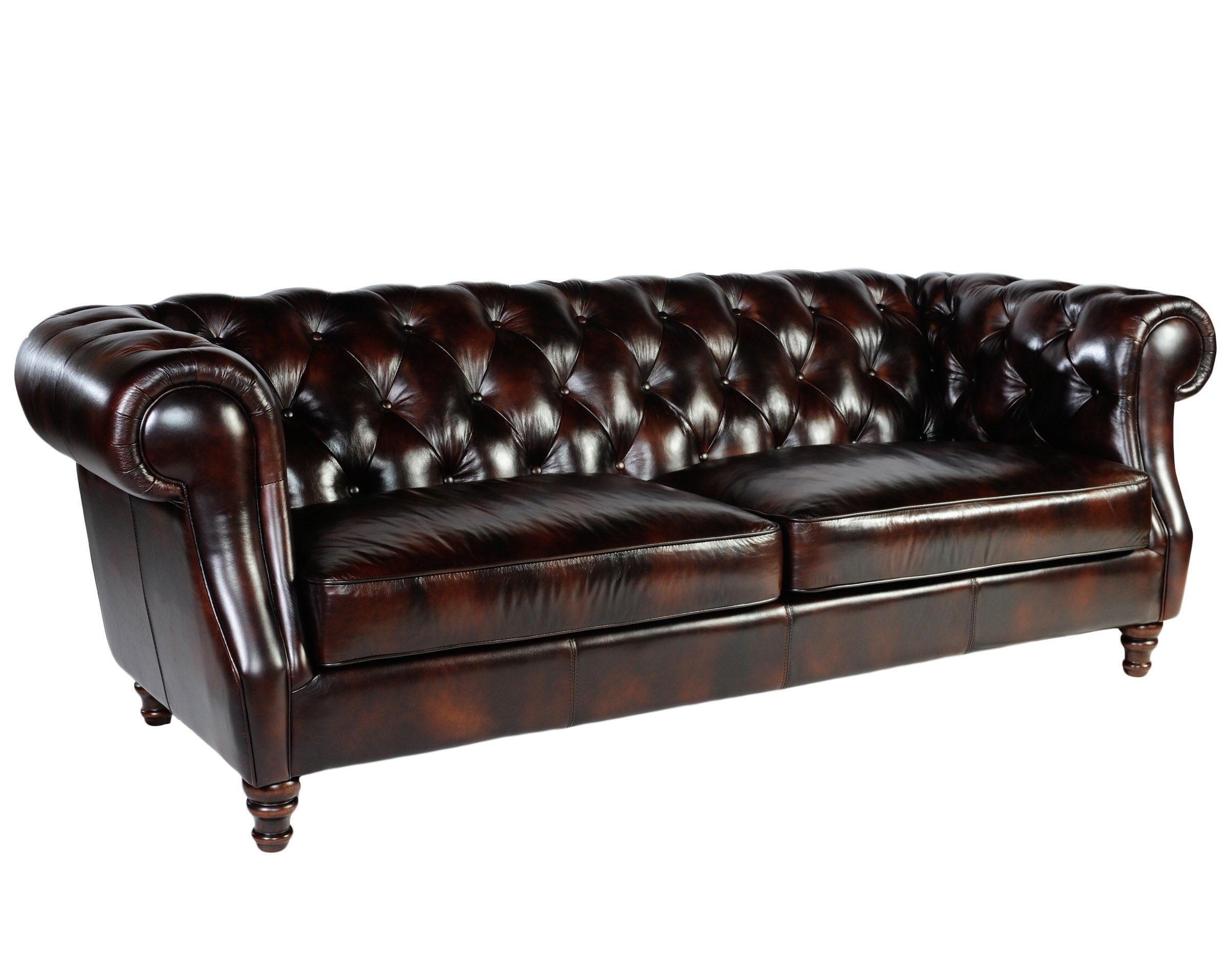 Lazzaro 1011 Chesterfield Leather Sofa In Stock