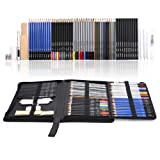 Mxculior 71-Piece Art Supplies -Sketch Set,Painting,Coloring and Drawing Pencils Set with Extra Art Kits for Children, Adults and Artists (Color: Black, Tamaño: Medium)