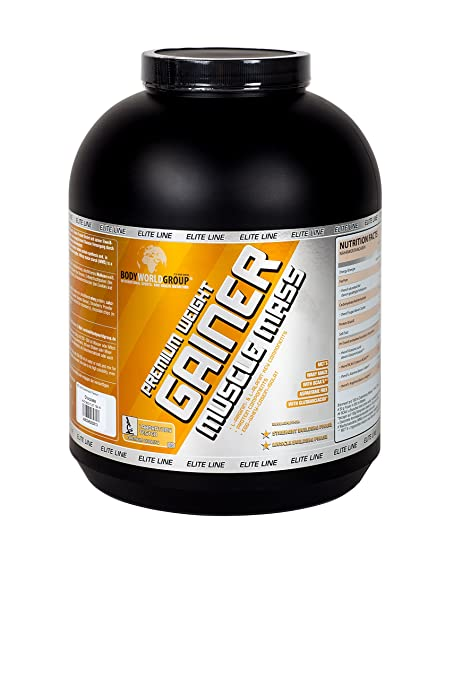 BodyWorldGroup Premium Weight Gainer Muscle Mass, Elite Line, Premium Chocolate Mass, 1er Pack (1 x 5000 g)