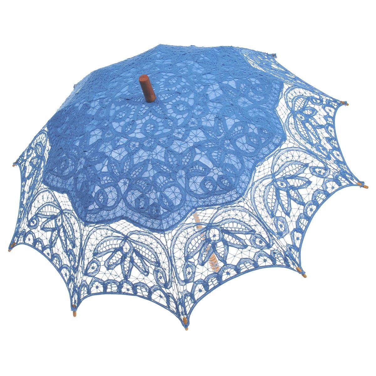 Remedios(19 colors) Vintage Bridal Wedding Party Cotton Lace Parasol Umbrella 0