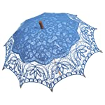 Remedios(19 colors) Vintage Bridal Wedding Party Cotton Lace Parasol Umbrella