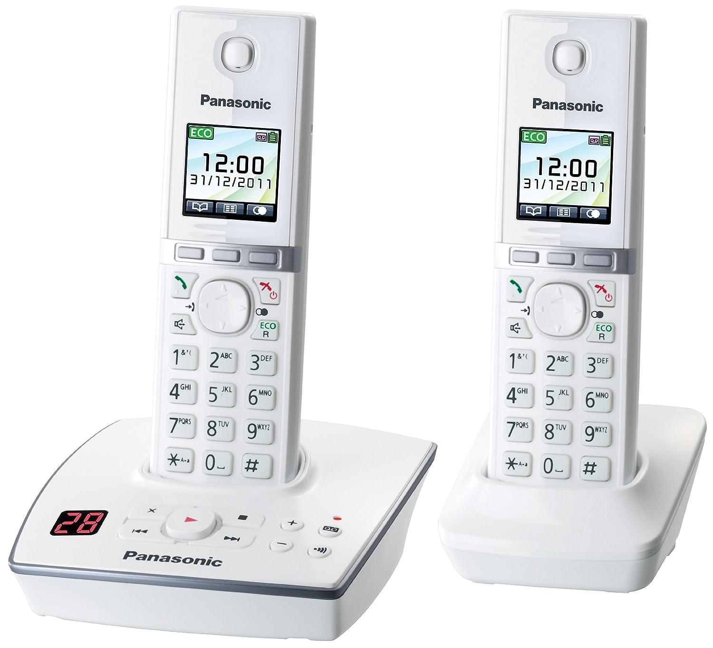 Comparer PANASONIC KXTG8062GW BLANC DUO AVEC REPONDEUR
