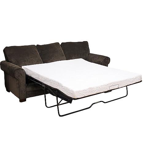 Classic Brands Cool Gel Memory Foam Replacement Sofa Mattress for Replacement Sofa Sleeper, Queen Size