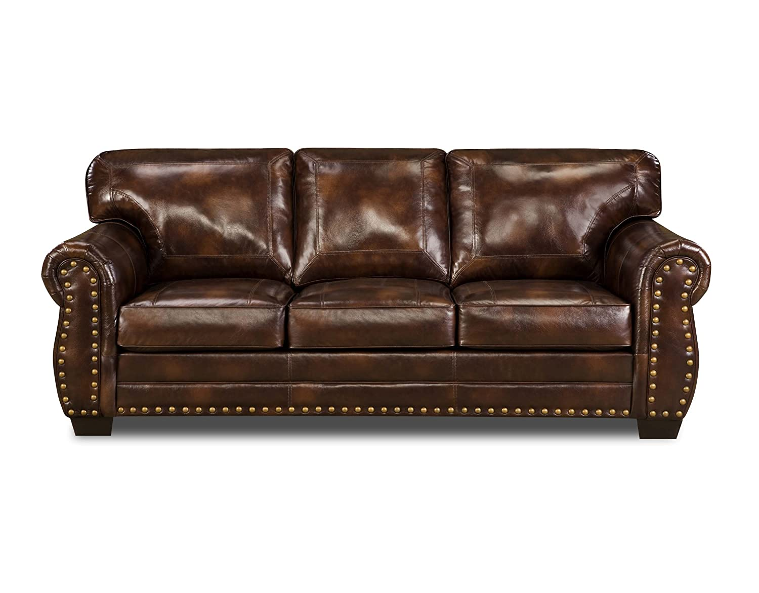 Simmons Upholstery 8369-DN Panama Espresso Bonded Leather Sofa
