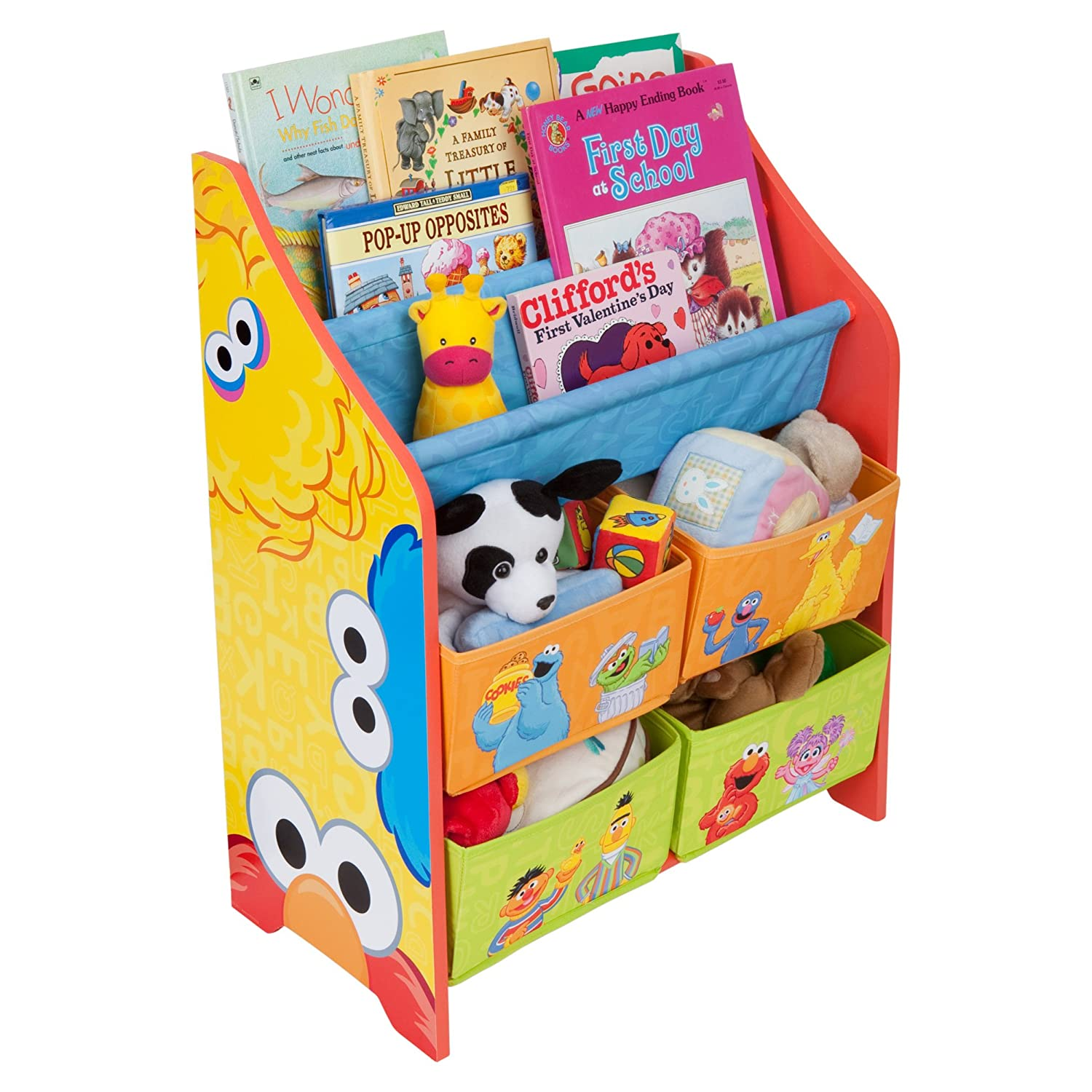 New sesame street book and toy organizer books magazines for Toy and book storage