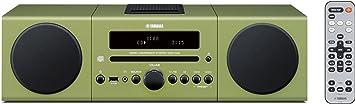 Yamaha MCR042GRN Chaîne Hifi avec tuner FM pour CD/Ipod/Iphone Vert