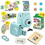 Fujifilm Instax Mini 9 Instant Camera ICE BLUE w/ Fujifilm Instax Mini 9 Instant Films (20 Pack) + A 14 Pc Deluxe Bundle For Fujifilm Instax Mini 9 Camera