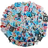 Meet Holiday Classic Movie Frozen Anna and Elsa Princess Skateboard Vinyl Stickers Car Motorcycle Bicycle Luggage Decal Graffiti Patches Skateboard Stickers for Laptop (Frozen)