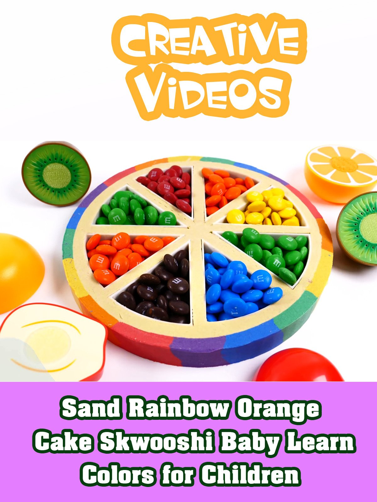 Sand Rainbow Orange Cake Skwooshi Baby Learn Colors for Children