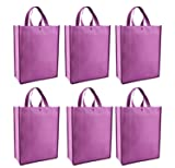 Trade Show Promotional Tote Bags, 6 Pk Set
