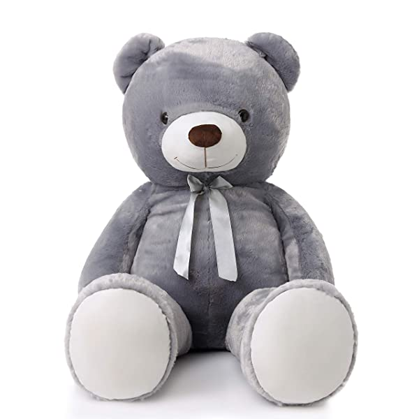 MorisMos Giant Teddy Bear Stuffed Animals Plush Toy for Girlfriend Kids (Gray, 47 Inch) (Color: Gray, Tamaño: 47 Inch)