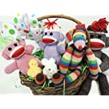 Sock Monkey Babies (Colors Will Vary)