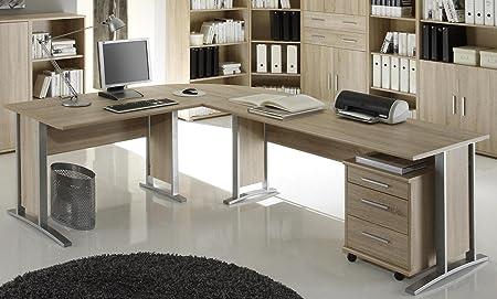 Burotisch Office Line Winkelkombination Eckschreibtisch Eiche Sonoma