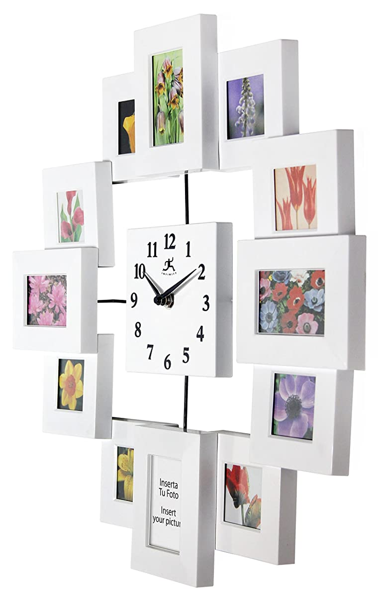 1575 inch modern wall clock with picture frames time capsule by 1575 inch modern wall clock with picture frames time capsule by infinity instruments jeuxipadfo Image collections