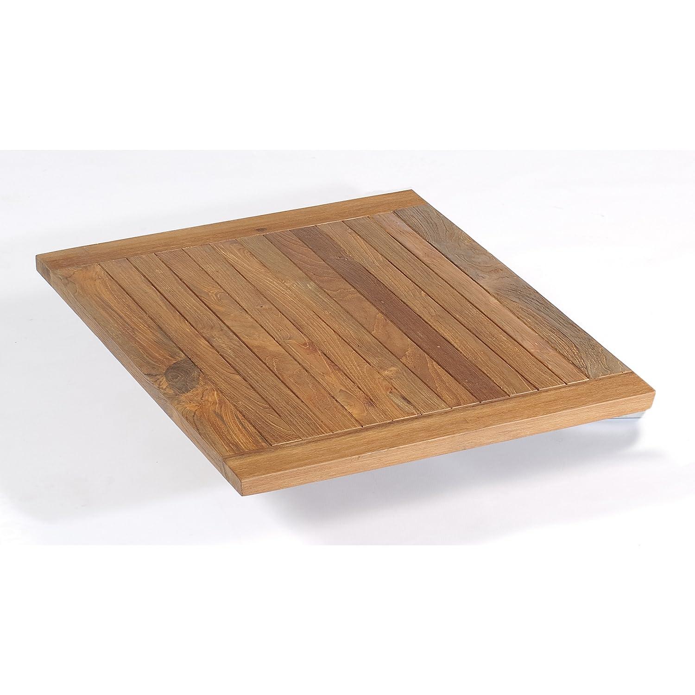 Sonnenpartner Tisch Base Gestell Edelstahl Platte Teakholz OldTeak 90 x 90 cm online bestellen