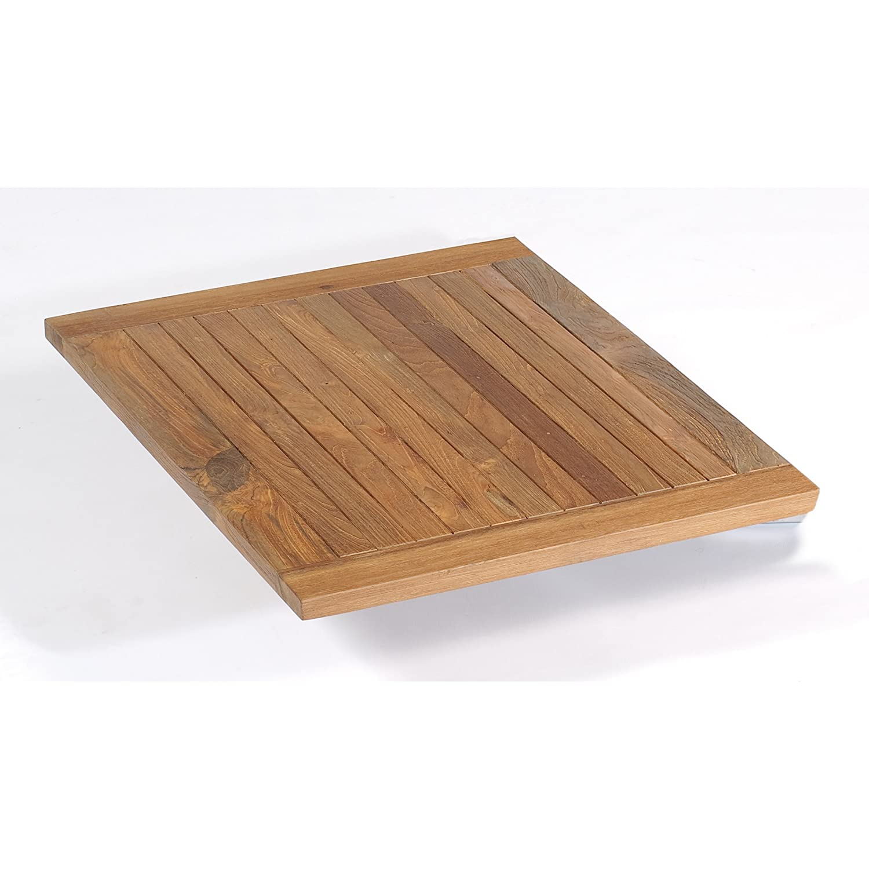 Sonnenpartner Tisch Base Gestell Alu anthrazit Platte Teakholz OldTeak 90x90cm jetzt bestellen