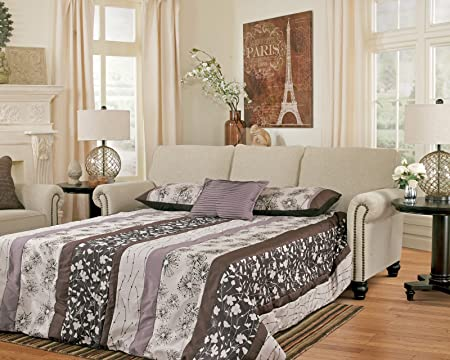 """Ashley Milari 1300039 90"""" Wide Queen Sofa Sleeper with Innerspring Mattress Easy To Lift Mechanism Rolled Arms and Turned Feet in"""