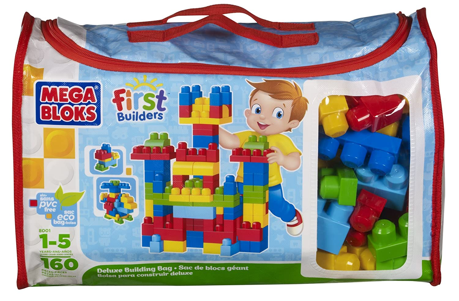 Mega Bloks First Builders Deluxe Building Bag Review  #toyreview $23.99