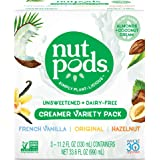nutpods Variety 3-Pack, Unsweetened Dairy-Free Creamer, Whole30, Paleo, Keto, Non-GMO & Vegan, for Coffee, Tea & Cooking, made from almond and coconut (Color: White, Tamaño: 3-pack)