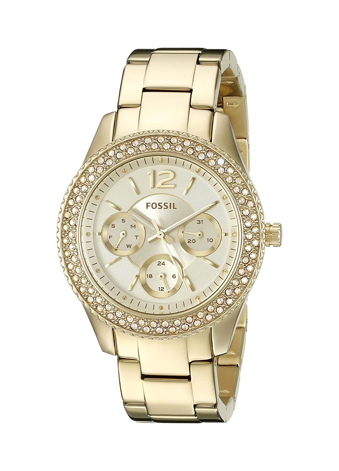 Upto 40% Off On Fossil watches   Fossil End of Season Stella Analog Gold Dial Women's Watch - ES3589 By Amazon @ Rs.7,996