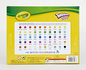 Crayola Twistables Colored Pencils, 50Count, Gift Toy