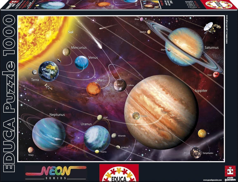 Solar System - Neon Series Jigsaw Puzzle (1000 pcs) - Educa educa пазл пекарня