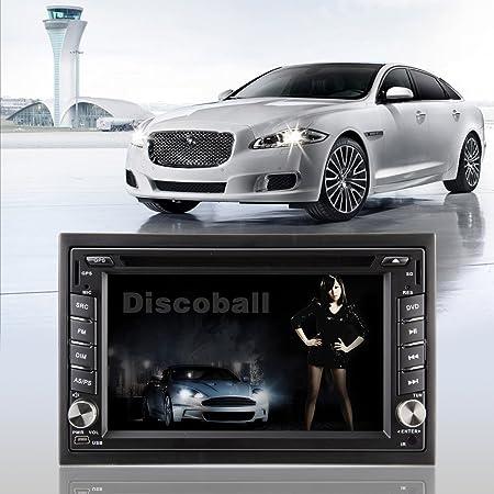 6.2 pouces 2 DIN pour tableau de bord de voiture pour lecteur CD/DVD avec écran tactile numérique A/FM M...