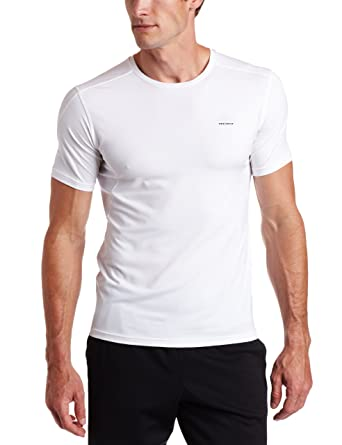 adidas Men's Techfit Fitted Short-Sleeve Top, White, Medium, from $7.48