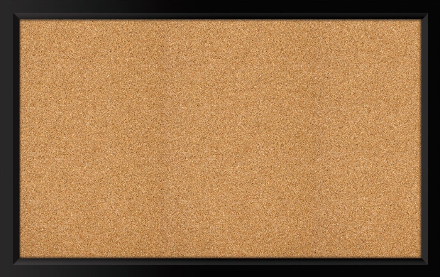 "Bradforth - Black Framed Cork Bulletin Board 35"" X 22"""
