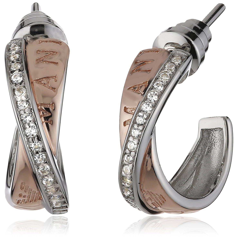 Emporio Armani Damen-Ohrstecker 925 Sterling Silber Zirkonia weiß EG3122221
