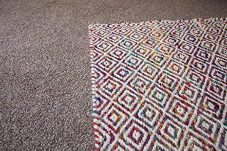 GD Home Recycled Sari Silk and Wool Rug, 150 x 240 cm, Multi-Colour