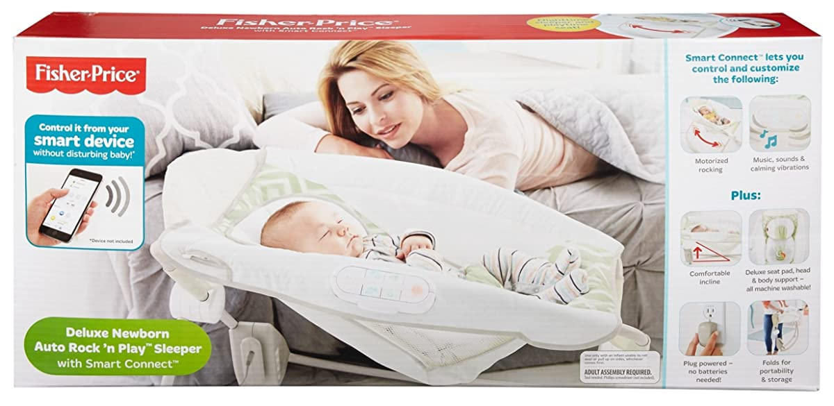 Fisher-Price Deluxe Auto Rock n Play Sleeper with Smart Connect