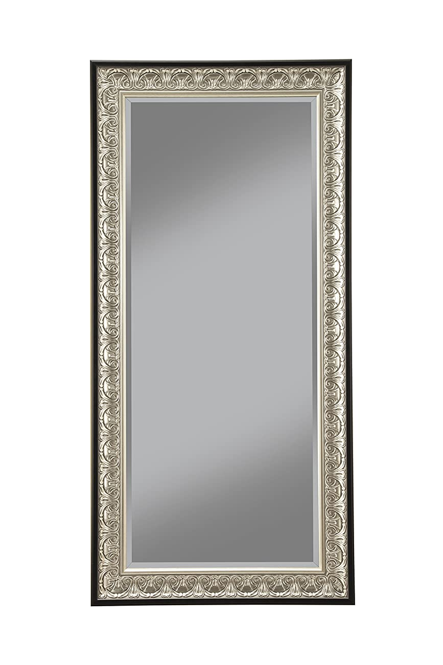 Sandberg Furniture 16011 Full Length Leaner Mirror Frame, Antique Silver/Black 0