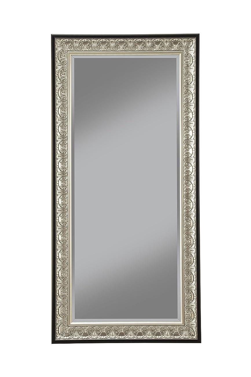 Sandberg Furniture 16011 Full Length Leaner Mirror Frame, Antique Silver/Black 0