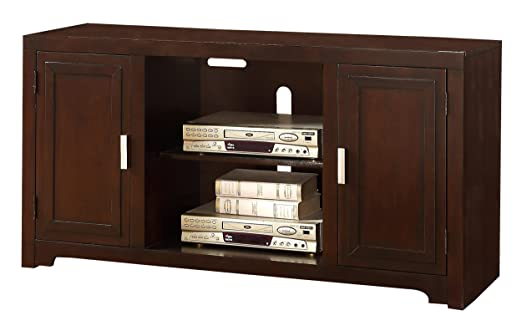 "HOMELEGANCE 8001-T TV Stand, 54"", Espresso Finish"