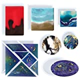 Funshowcase Coaster Resin Epoxy Silicone Molds 7-in-Set (Color: 7-in-set)