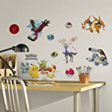 RoomMates RMK2625SCS XY Pokemon Peel and Stick Wall Decals (Color: multi-colored, Tamaño: 8 Inch)