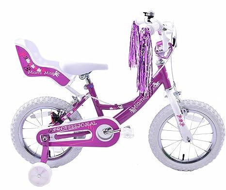 Miami Miss filles 35,6cm de vélo BMX roue Dolly Siège Violet Blanc pour Age 4ans +