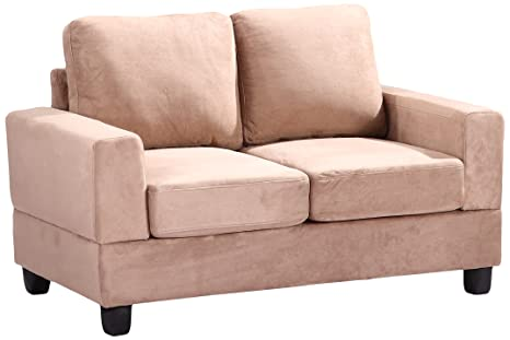 Glory Furniture G304A-L Living Room Love Seat, Beige