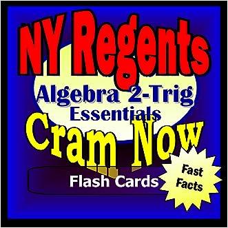 NY Regents Prep Test ALGEBRA 2 - TRIGONOMETRY Flash Cards--CRAM NOW!--Regents Exam Review Book & Study Guide (NY Regents Cram Now!)