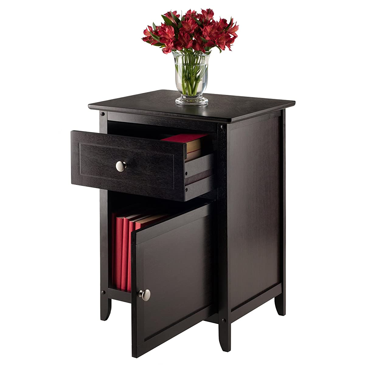 Winsome Wood Beechwood End Accent Table Espresso