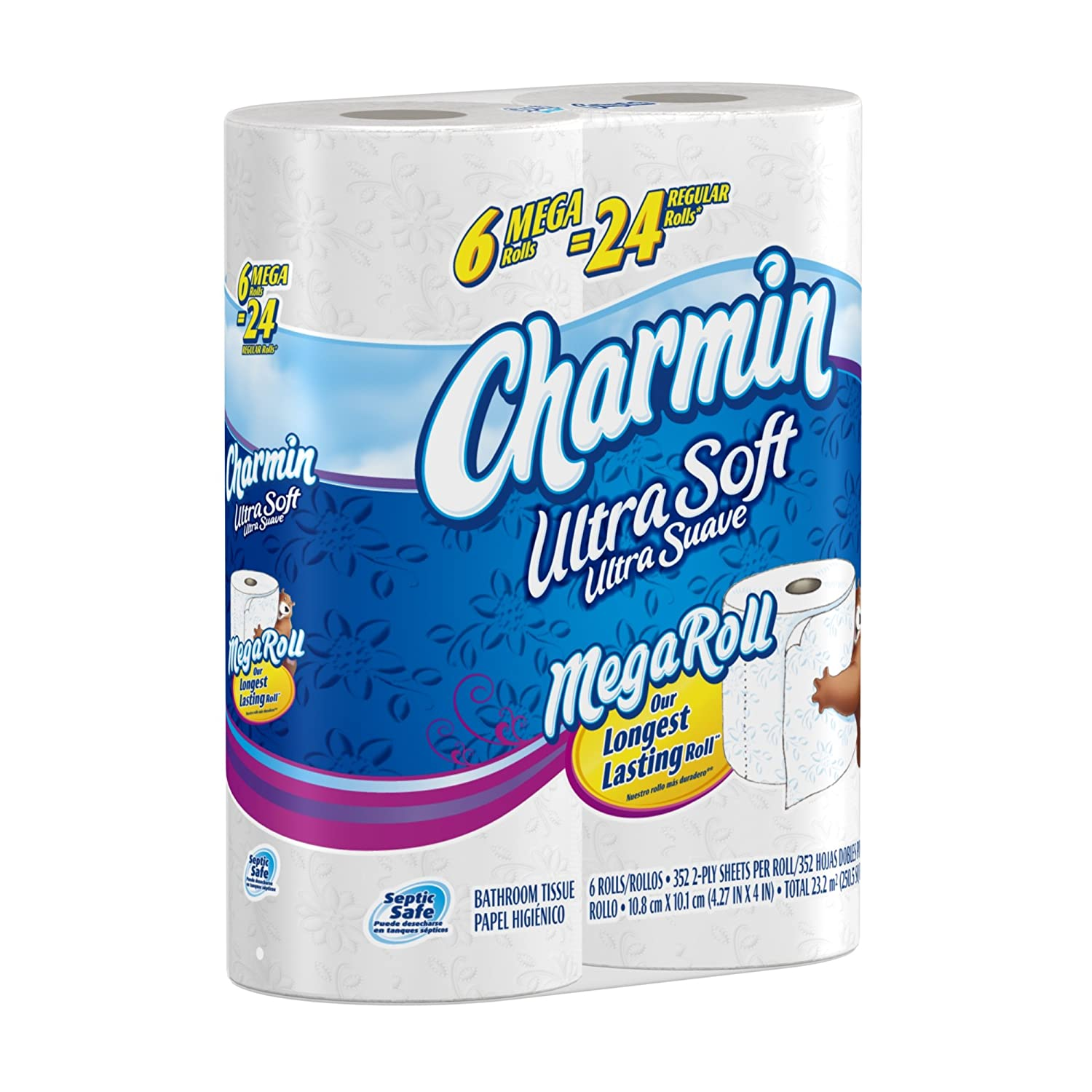 Charmin Ultra Soft Toilet Paper 6 Mega Rolls $6.97