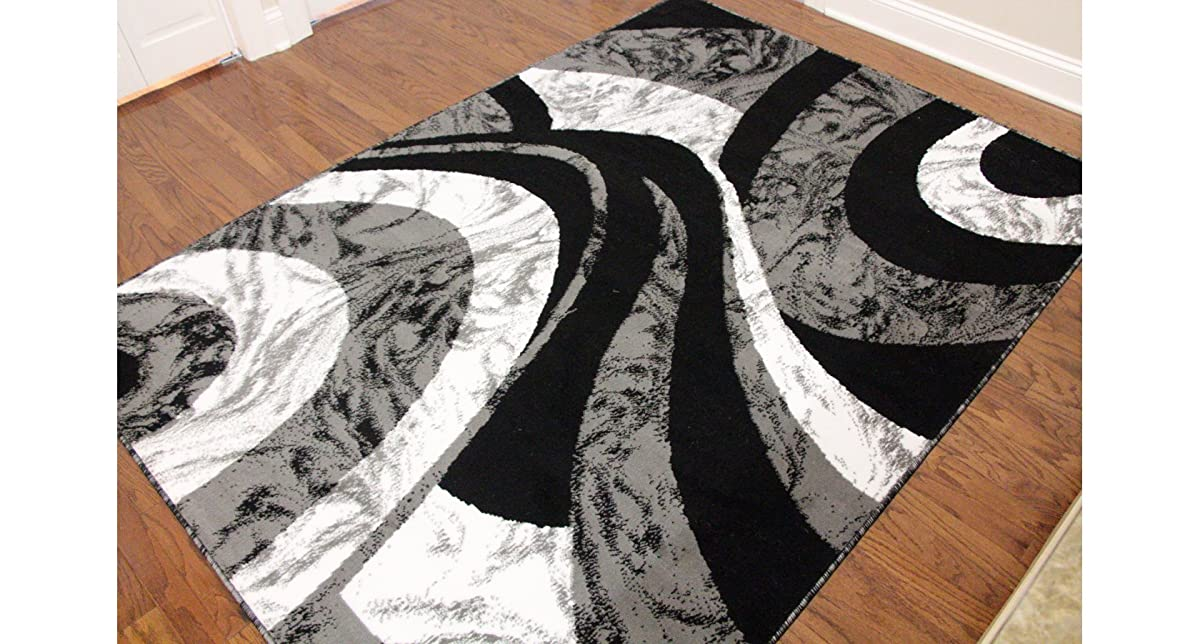 Eldorado Modern Design Printed Swirls Area Rug Luxurious
