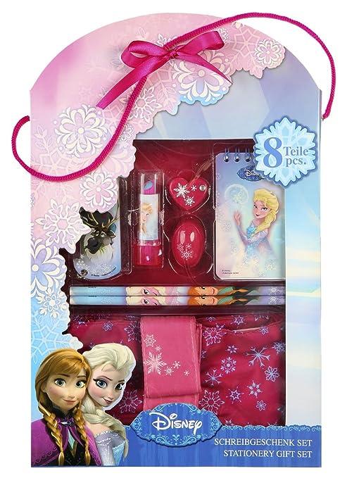 Undercover FRQA2230 - Set de Cadeau d'écriture Disney Frozen, 8 pièces