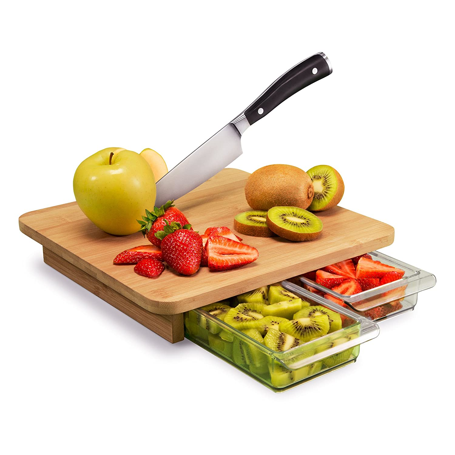 Quirky Cubo Cutting Board with Prep Storage
