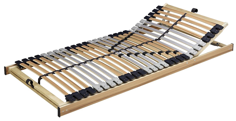 Lattenrahmen Premiflex LIFT 2er Set Bast Schlafsysteme 28 Leisten verstellbar Braun Massivholz 80 x 200 90 100