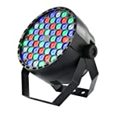Coidak CO804 60W 54LEDS Super Bright RGB LED PAR Stage Light with DMX512 Control for Disco Club Party Bar (Color: Black)